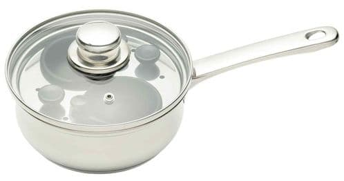 KitchenCraft Stainless Steel 18cm Two Hole Egg Poacher